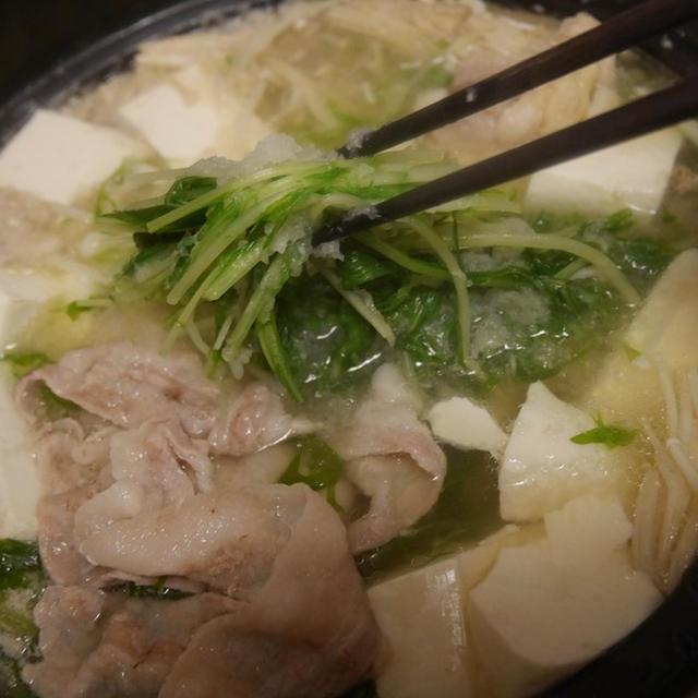 大根おろしたっぷり!はりはり水菜と豚肉のみぞれ鍋のレシピ