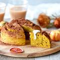 HMと午後ティーDE超簡単♥濃厚かぼちゃケーキ【#ハロウィン #ケーキ 】