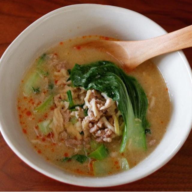 こだまの千切り大根レシピ【千切り大根で坦々スープ】