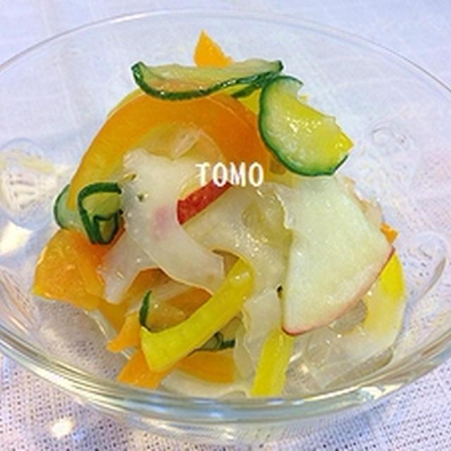 りんごとレンコンのマリネ風サラダ
