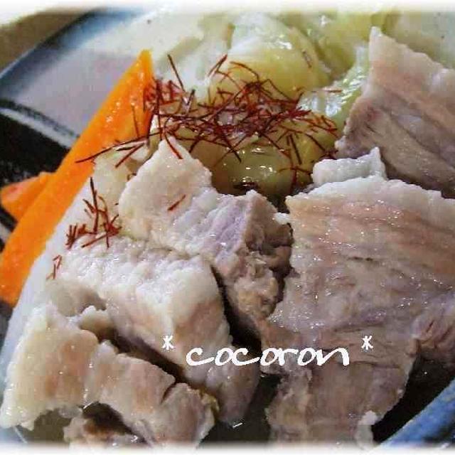 とろ~り塩角煮&海鮮キムチ&桃のデザート