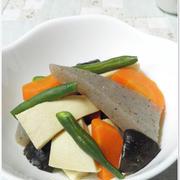 我が家の定番副菜☆高野豆腐とこんにゃくの煮物