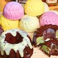 クグロフで作るピノ!チョコミントアイスクリーム チョコモナカサンドもあります。 by HiroMaruさん
