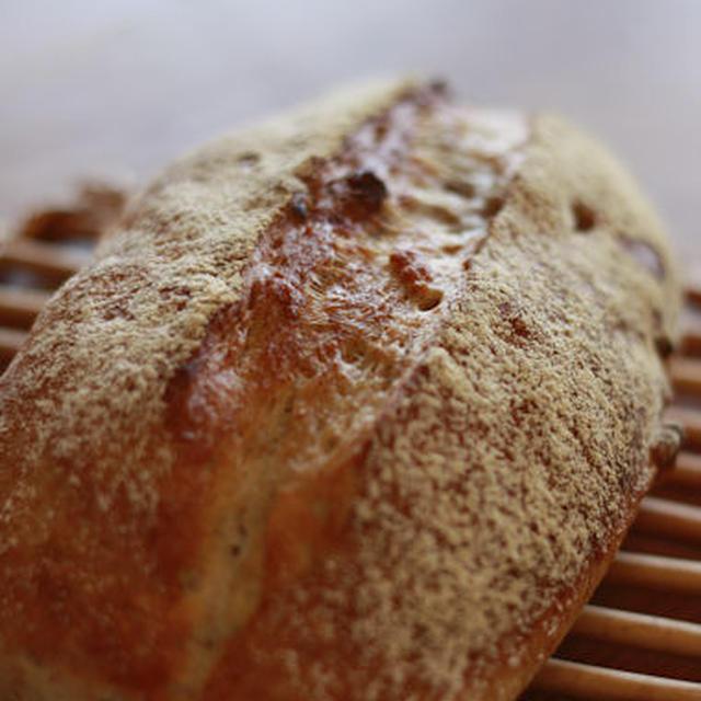 ルクエで簡単に本格パン♪くるみのカンパーニュ