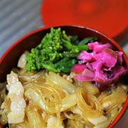 白菜と豚と春雨の中華煮・・・おっと弁
