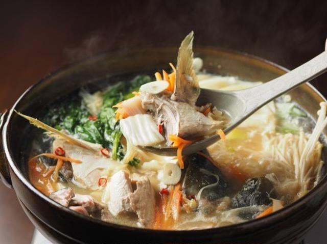 ぶりあらのニンニク味噌鍋
