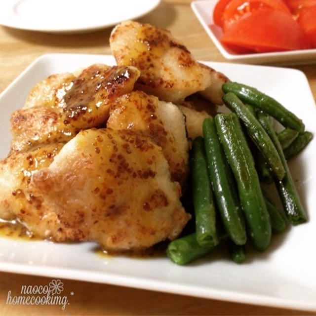 塩糀でふんわり柔らか*鶏胸肉のハニーマスタードソースがけ to マヌカハニー