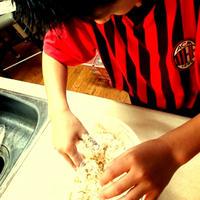 手作りピザ。