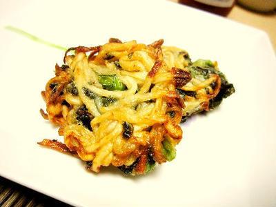 切干大根と小松菜のパリッと揚げ