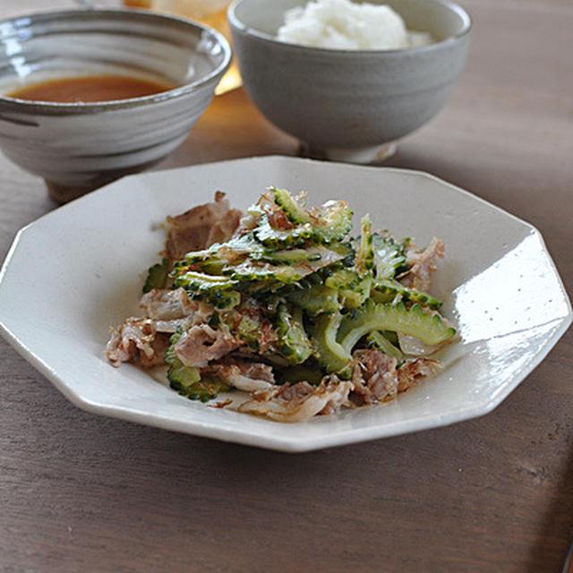 ランチ・カリカリ豚バラとゴーヤ炒め