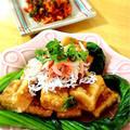 高野豆腐で!ハートの高野豆腐揚げ出し by Misuzuさん