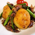 ホタルイカと野菜の昆布つゆアンチョビ炒め