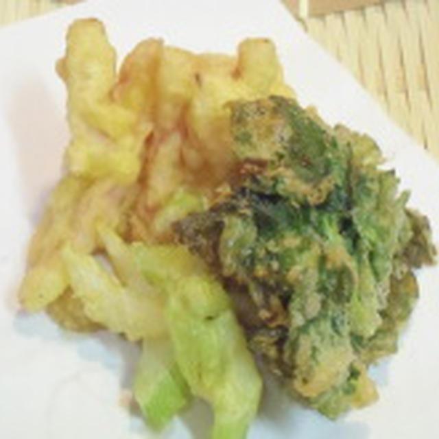 お野菜の甘味を満喫しよう!!大根とセロリの精進揚げ