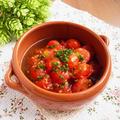 オリーブオイルの底力! * かんたん5分のミニトマトのアヒージョ
