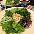 コチュジャンソースでうま辛な「グリーン冷麺」。