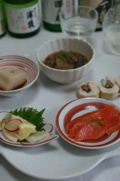 【かぶとラディッシュの中華風酢の物】【ごま豆腐】【牛すじ煮】 レシピ