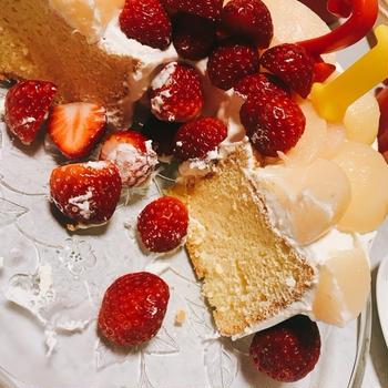 クリスマスケーキもグルテンフリー!ケーキは小麦粉→米粉にするだけ!!