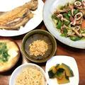 イカの干物と野菜のあっさり炒め