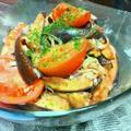 いわきトマトと茄子のバルサミコ酢マリネ♪