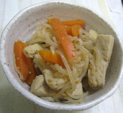 しらたきと高野豆腐の煮物