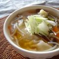 簡単!スープ餃子。