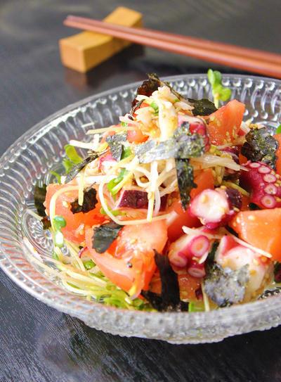 韓国風トマトとタコのサラダ