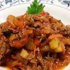 牛肉とセロリのトマト煮