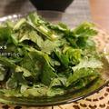 素材一品だけレシピ、激早!春菊ごま酢和え by えつこさん