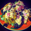 バーニャカウダ風ソースで食べるマッシュドパンプキン