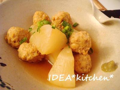 ★鶏団子と蕪の煮物 柚子こしょう添え**暑さに負ける5月。