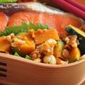 簡単レンジおかず「かぼちゃの揚げ玉和え」のお弁当