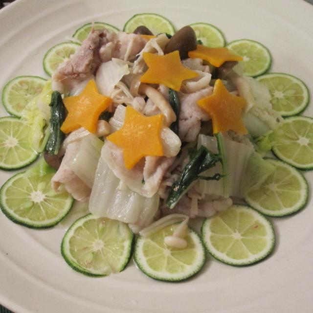 レンジで簡単♪白菜と豚しゃぶのさっぱり蒸しサラダ