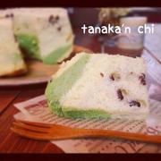 小豆と抹茶のシフォンケーキ