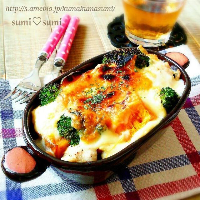 豆腐♡おから♡豆乳のヘルシー野菜グラタン♡ひなちゃん500
