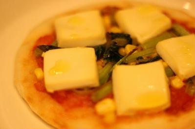 Vegan mini pizza