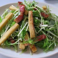 No.041 カリカリベーコンと高野豆腐のはちみつジンジャーサラダ