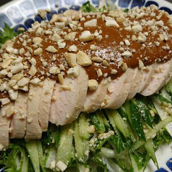野郎飯流・低温調理の鶏で食べる棒棒鶏