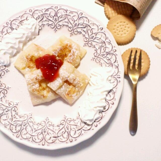 フライパンで☆簡単もちもちアップルパイ。
