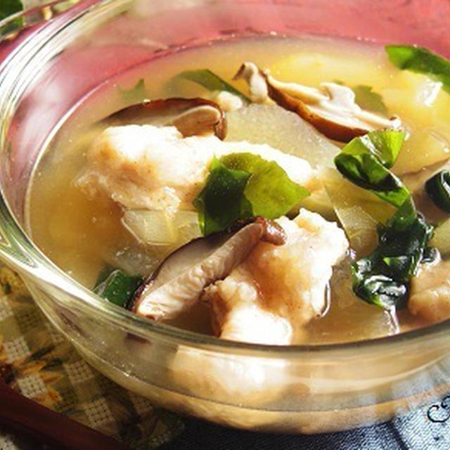 冬瓜(とうがん)と鶏ムネ肉のひんやりスープ