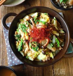 ♡フライパンde超簡単♡白菜の肉味噌バター炒め〜あんかけ風〜♡【簡単*時短*節約*ひき肉】
