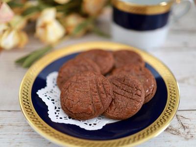 塩味のあるサクサク食感♪簡単ココアのガレットクッキー☆ココア風味のガレット・ブルトンヌ