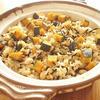 土鍋で!南瓜のジンジャー炊き込みご飯