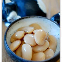 ちょっと箸休め・・・ふっくら美味しい「白花豆の甘煮」