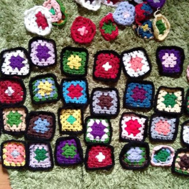 モチーフ編み、進捗。