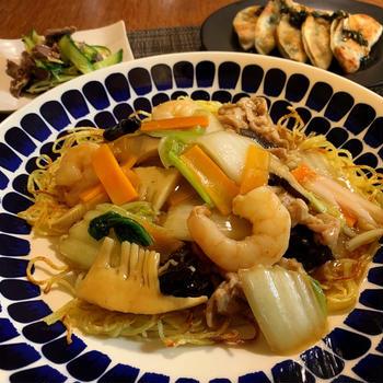 オススメのあんかけ焼きそば!!・・・東京銀座イタリア料理・家庭料理教室