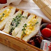 .ゴーヤとツナと玉子とカレーのサンドイッチ