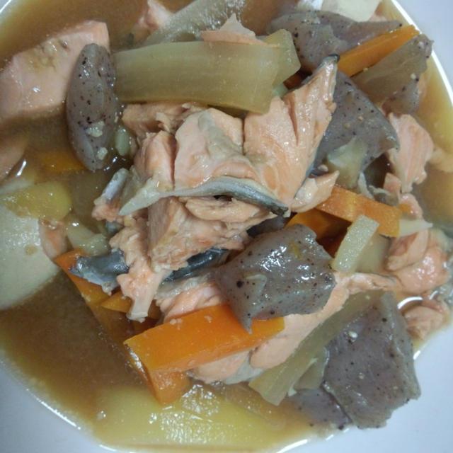 生鮭の具だくさん味噌汁