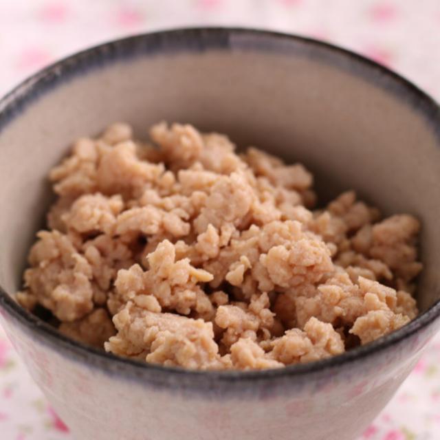 簡単常備菜~鶏そぼろの作り方