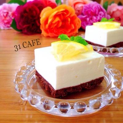 ♡混ぜるだけ*オーブン不要♡はちみつレモンレアチーズ♡【簡単レアチーズケーキ】