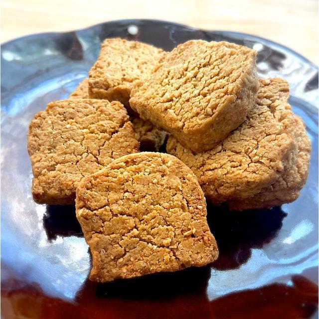 きな粉と白ごまのクッキー